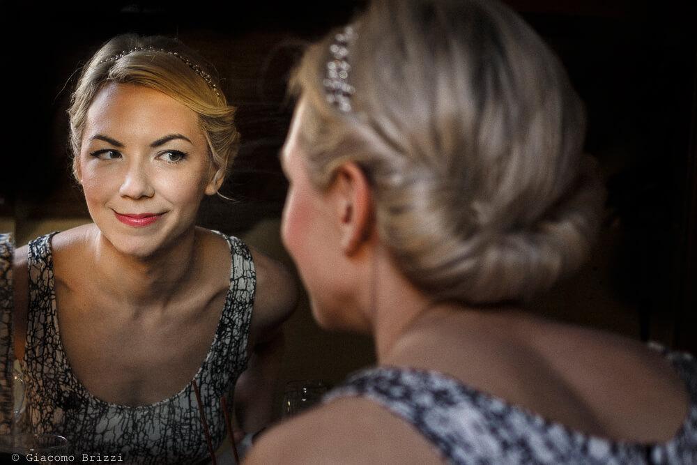 Sposa allo specchio Matrimonio ad Alghero