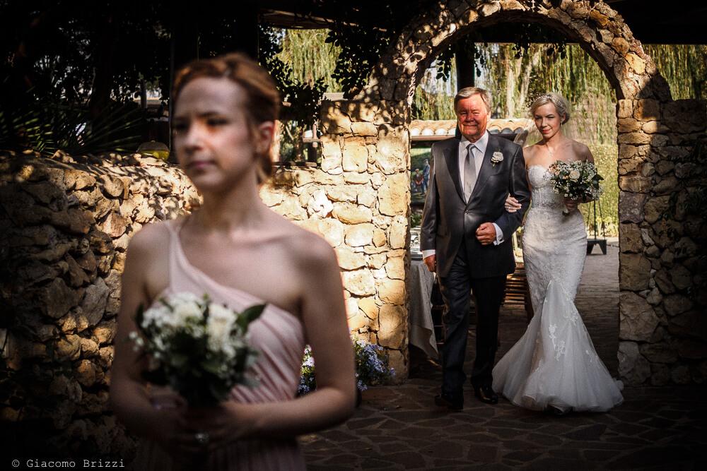 Uscita della sposa Matrimonio ad Alghero