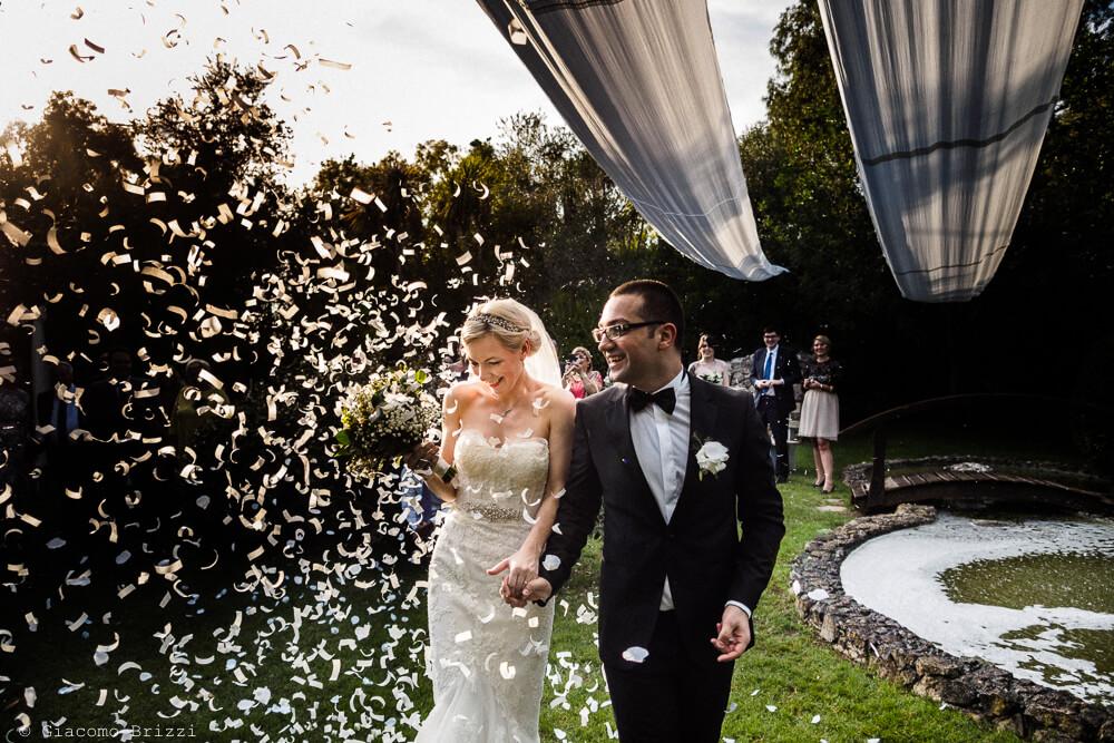 Gli sposi nei festeggiamenti Matrimonio ad Alghero