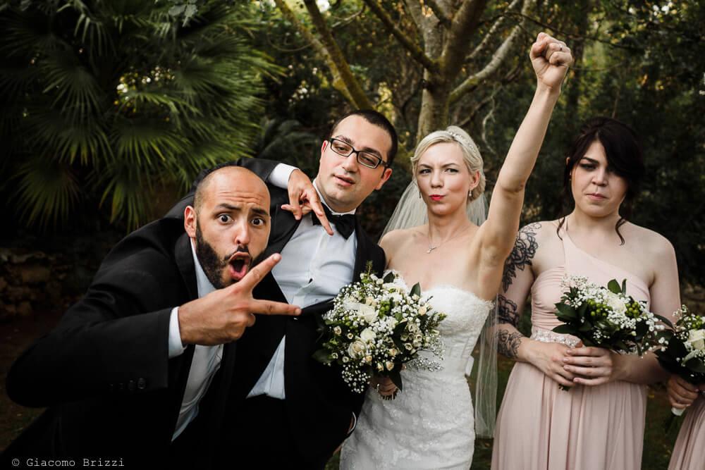 Gli sposi e gli invitati Matrimonio ad Alghero