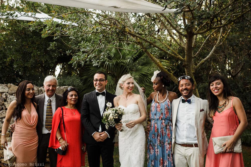 Foto di gruppo Matrimonio ad Alghero