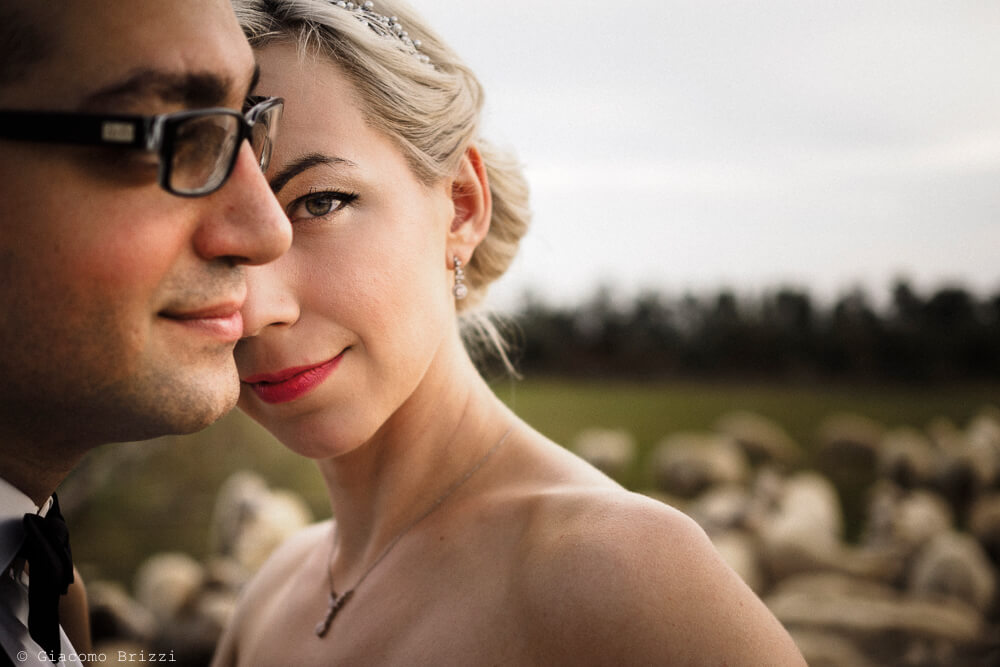 Primo piano sposi Matrimonio ad Alghero