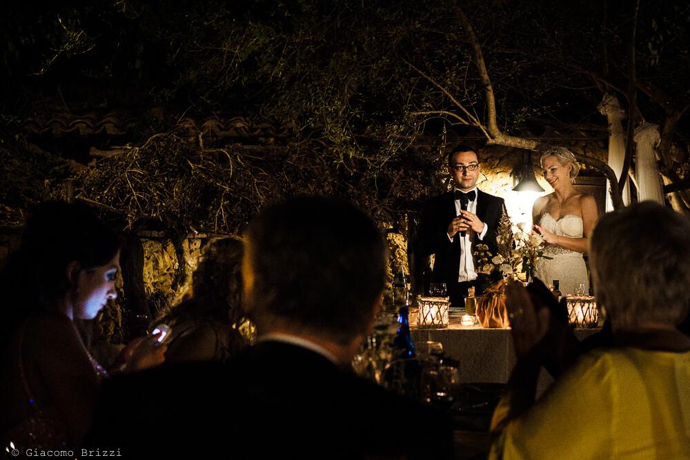 Gli sposi al ricevimento Matrimonio ad Alghero