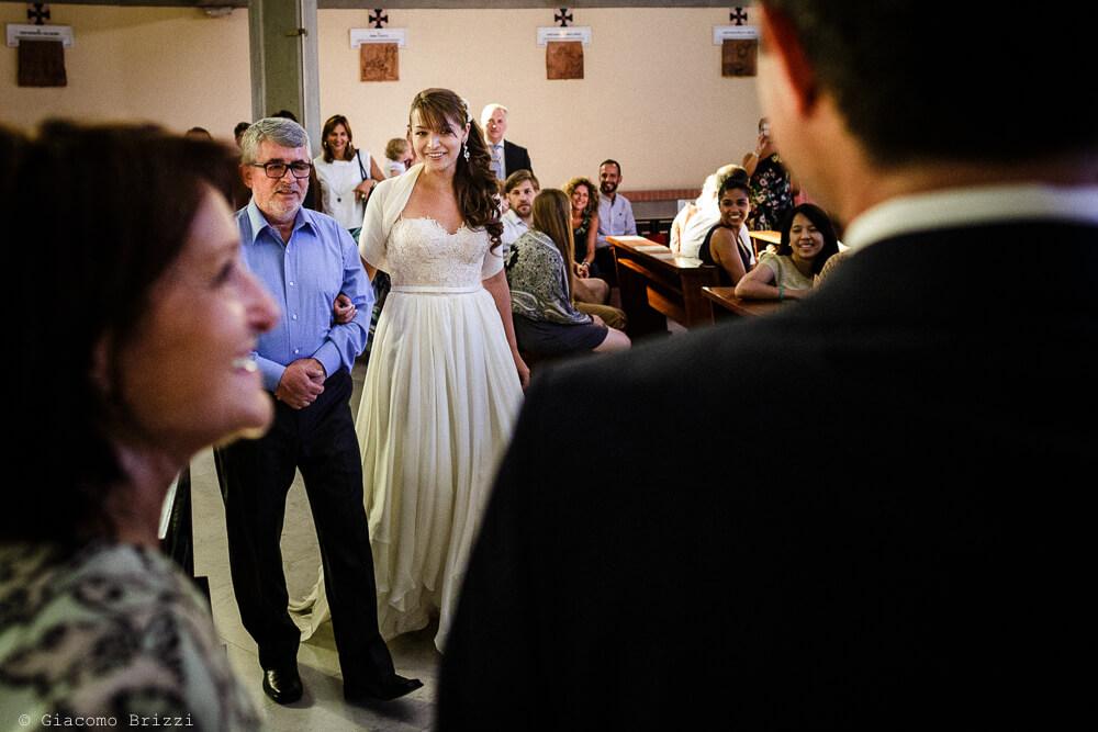 Ingresso in chiesa Matrimonio a Sarzana