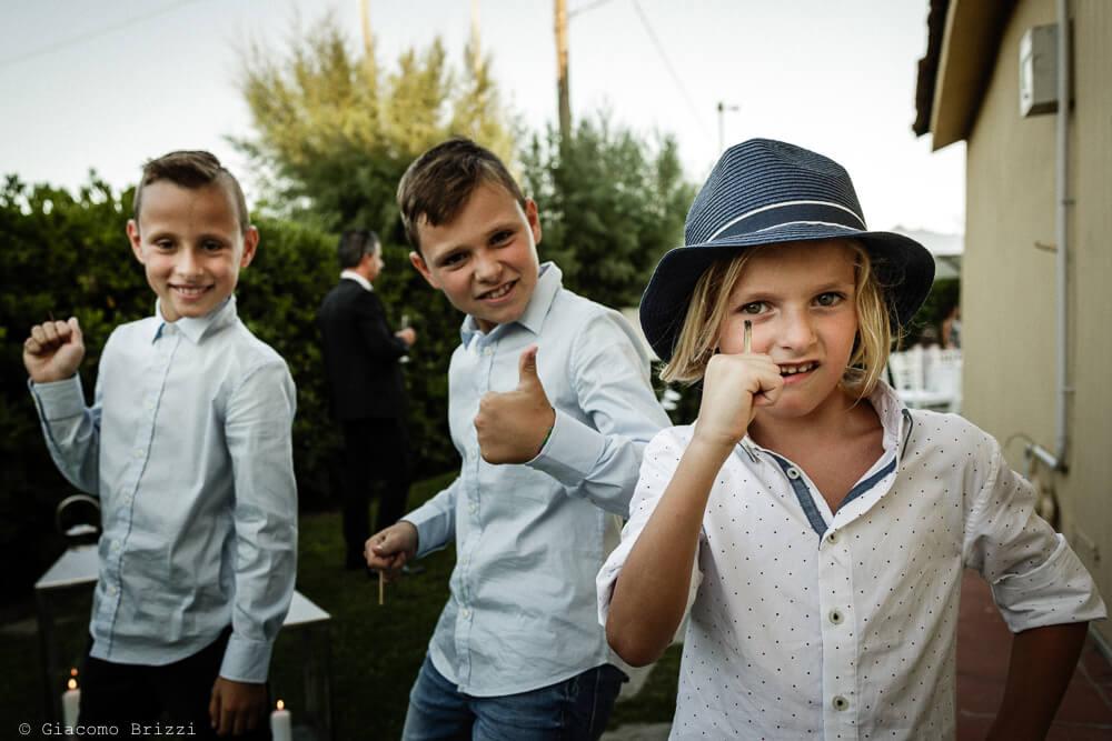 I ragazzini si divertono Matrimonio a Sarzana