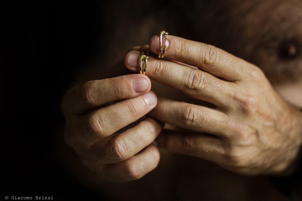 Dettaglio delle fedi Matrimonio a Sarzana