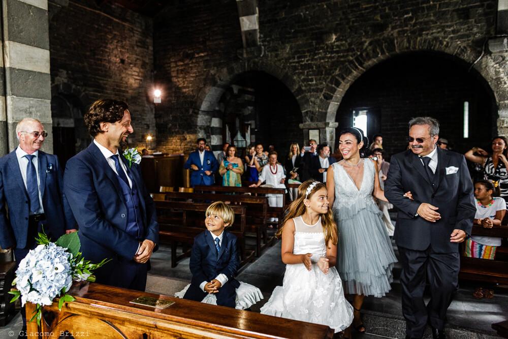 Inizio della cerimonia al Matrimonio a Portovenere