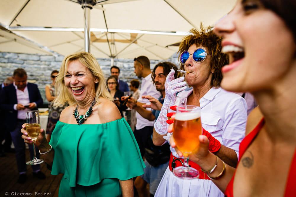 Alcuni invitati al ricevimento del Matrimonio a Portovenere