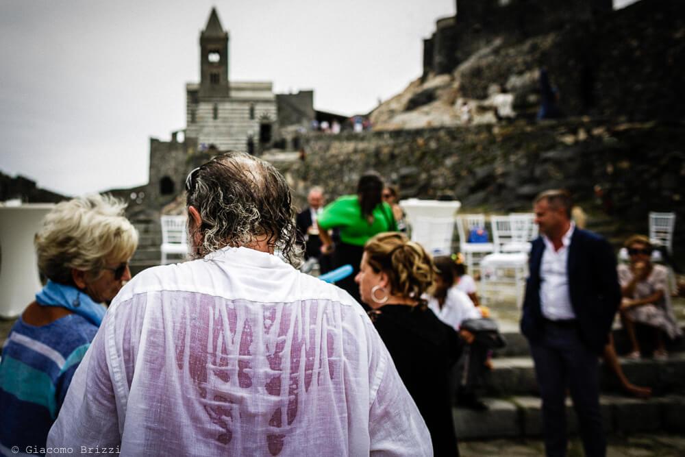 Un momento di divertimento al ricevimento del Matrimonio a Portovenere