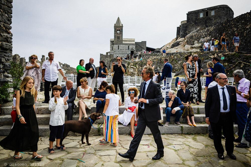 Un momento particolare al ricevimento del Matrimonio a Portovenere