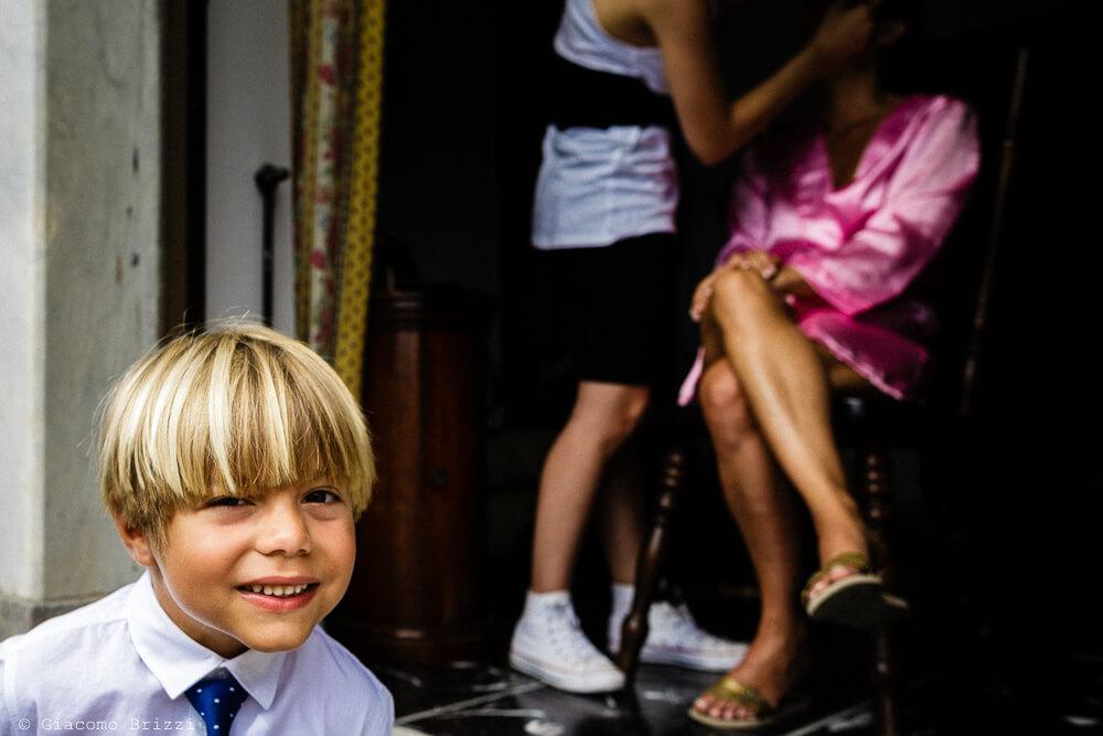Bambino sorridente Matrimonio a Portovenere