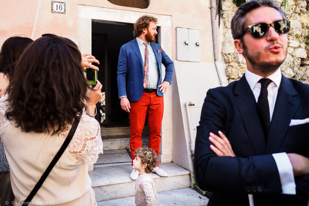 Lo sposo è pronto al Matrimonio di Amelia