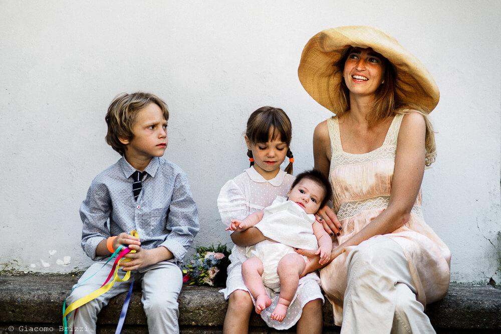 Foto di gruppo al Matrimonio di Amelia