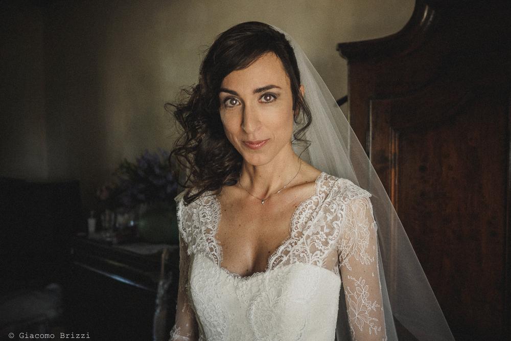 La sposa è pronta fotografo matrimonio Castello di Paderna a Pontenure