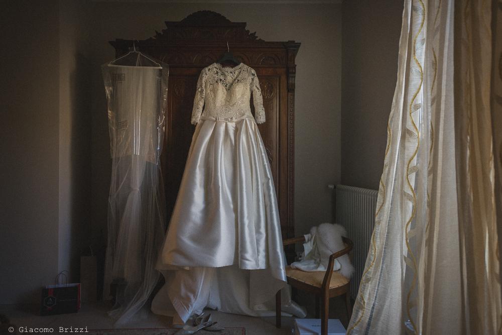 L'abito della sposa matrimonio massa carrara