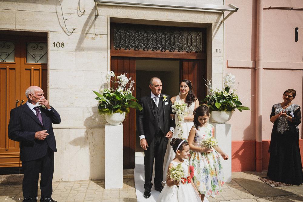 La sposa esce di casa, fotografo matrimonio francavilla fontana, puglia