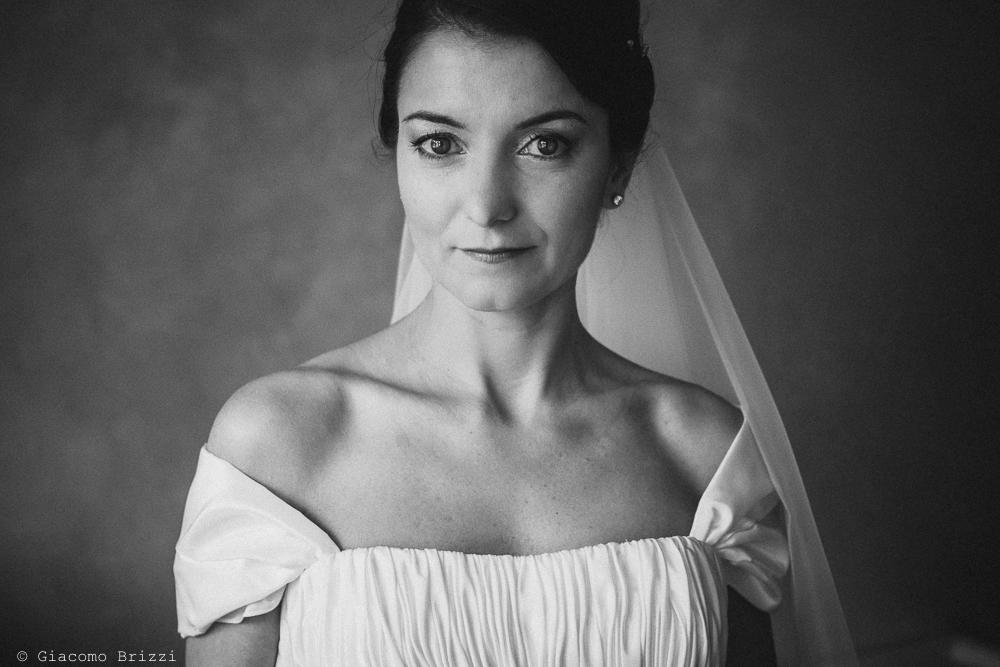 Primo piano al viso della sposa, fotografo matrimonio rapallo, liguria