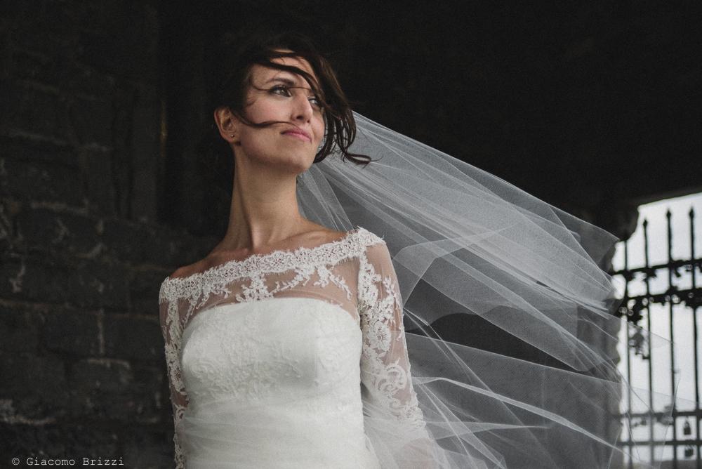 Primo piano della sposa, fotografo matrimonio ricevimento hotel europa, lerici