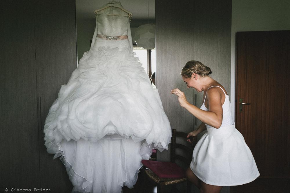 L'abito della sposa matrimonio viareggio la costa dei barbari