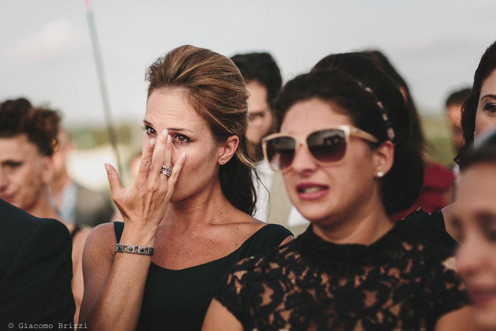La commozione degli invitati matrimonio viareggio la costa dei barbari