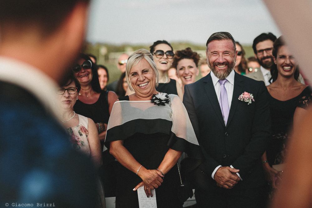Gli invitati in prima fila matrimonio viareggio la costa dei barbari