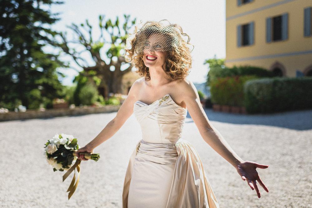Un inquadratura sulla sposa raggiante matrimonio ricevimento terre di nano