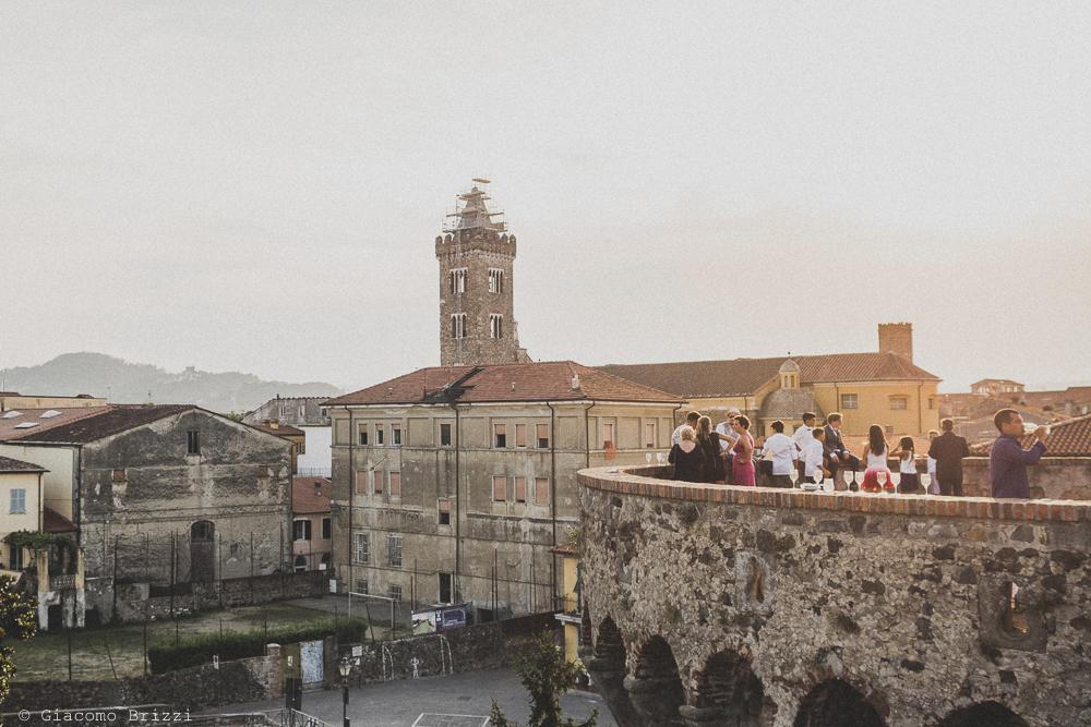 La Fortezza di Sarzanello vista generale, fotografo al matrimonio di sarzana alla Fortezza
