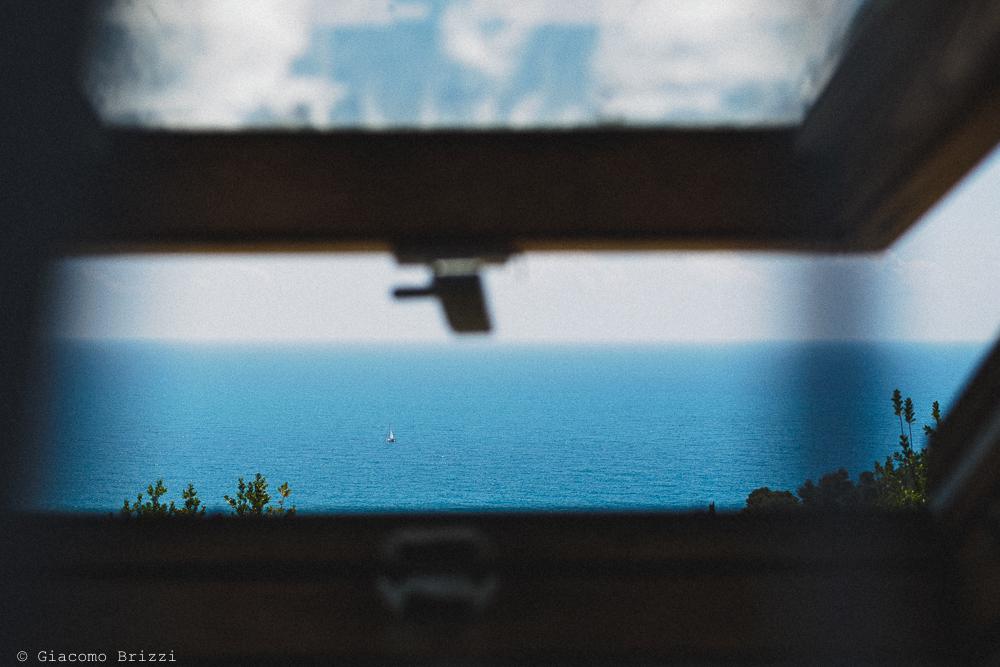 Vista del mare dalla finestra, fotografo matrimonio Vernazza, Cinque Terre