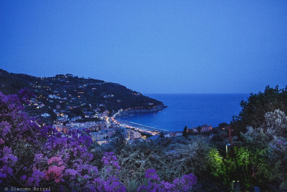 Foto panoramica in notturna del Golfo, fotografo matrimonio Vernazza, Cinque Terre