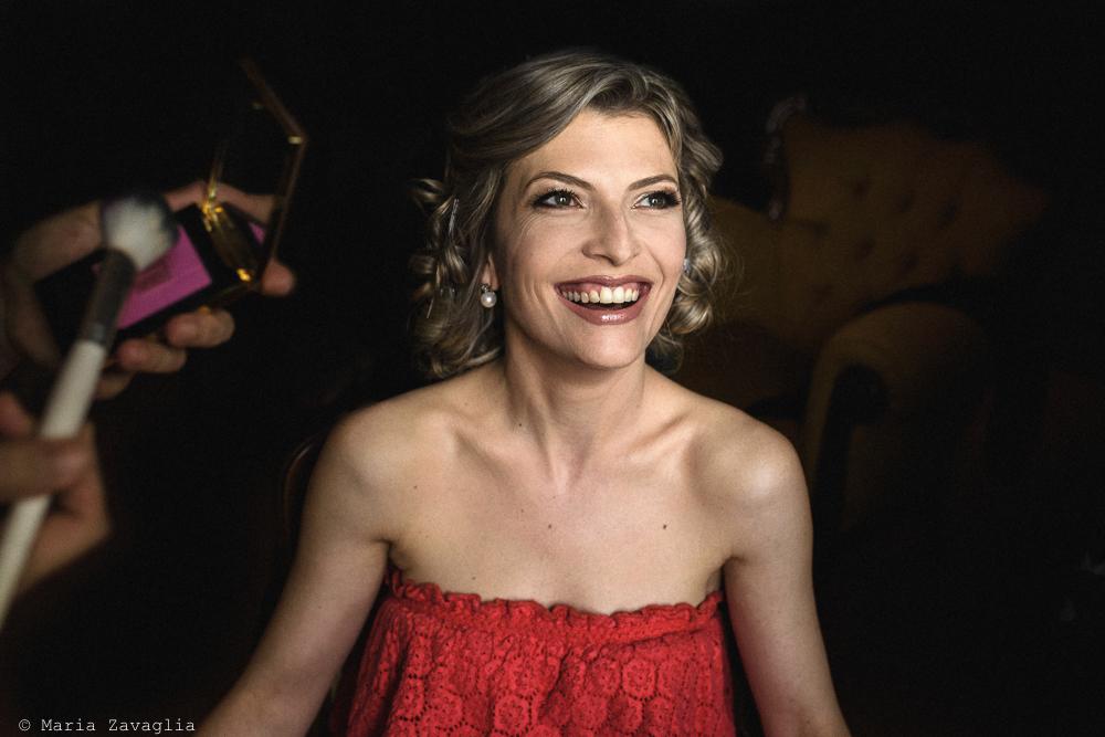 Primo piano sulla sposa sorridente, matrimonio San Giuliano Terme, Pisa. Giacomo Brizzi Fotografo