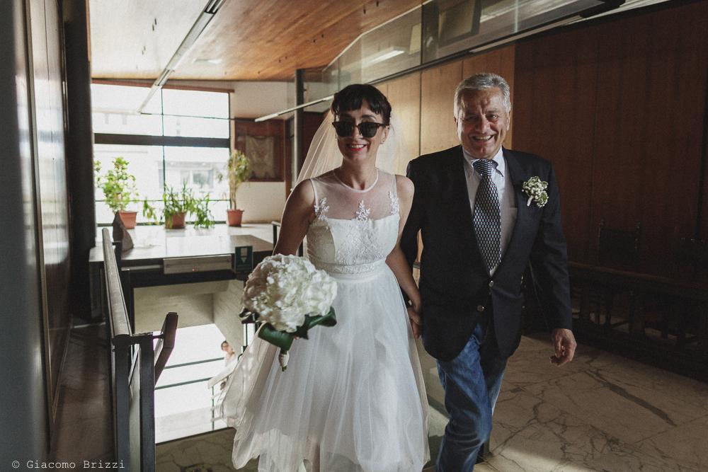 La sposa con suo padre, matrimonio Massa Carrara Toscana