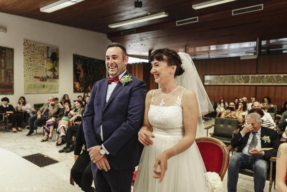 Gli sposi durante la cerimonia, matrimonio Massa Carrara Toscana